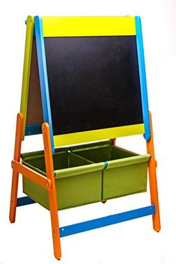 3 in 1 Art Easel w/ Paper Roll, Storage Bins, and Magnetic L