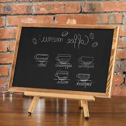 MyGift 18-Inch Burnt Wood Chalkboard with Tabletop Easel Sta