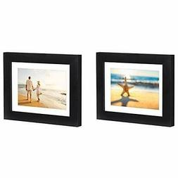 Americanflat Black Picture Frames 4x6 5x7 6x8 2 Pack Easel S