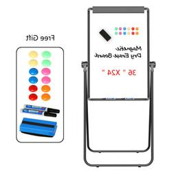 """24 x 36"""" Magnetic Whiteboard Double-Sided Dry Erase Easel St"""