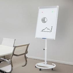 """25""""x40"""" Magnetic Height Adjustable Rolling Whiteboard Easel"""