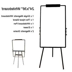 """36x24"""" Magnetic Dry Erase Easel White Board Tripod Stand Dis"""