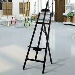 "55""H Beech Wood Adjustable Folding Art Easel Stand Painting"