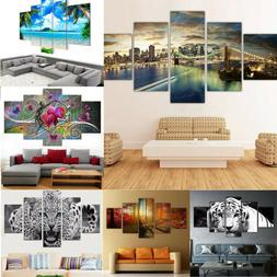 5pc Unframed Modern Art Oil Painting Print Canvas Picture Ho
