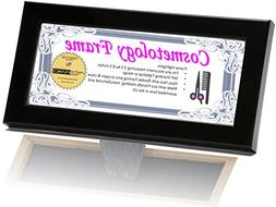 Cosmetology Self Standing Black License Frames 3.5 by 8.5 in