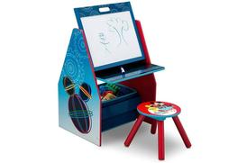 Delta Children Activity Center with Easel Desk, Stool, Toy O