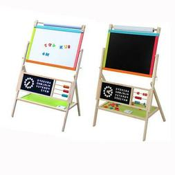 Large Size All In One Kid's Wooden Art Easel Double Side w/