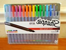 Sharpie Art Pens Fine Point Assorted Colors Hard Case with E