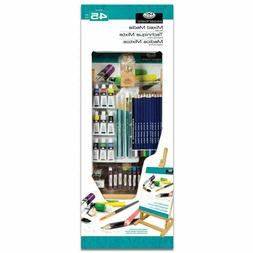 At Home Art Kit Beginners Paint Set w/ Table Easel Artist Pa