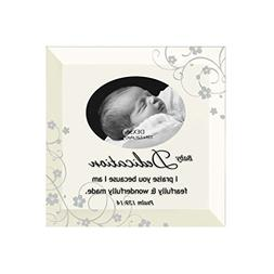 Baby Dedication Beveled Glass Photo Frame with Easel