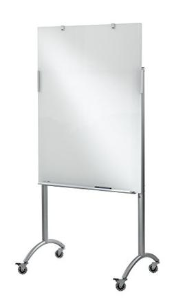 Clarity Glass Mobile Presentation Easel, 36 x 48 x 72, Glass