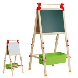 Double Sided Magnetic Display Art Easel Standing Writing Kid