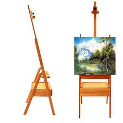 Durable French Easel Stand Wooden Sketch Box Portable w/ Dis