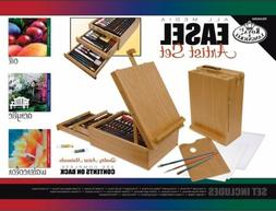 104 Piece Art Easel Deluxe Wood Case Young Artist Drawing Sk