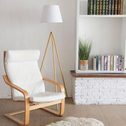 Easel Floor Lamp for Family& Office, Natural Wood Color with