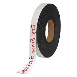 """MasterVision FM2018 Dry Erase Magnetic Tape Roll, White, 1"""""""