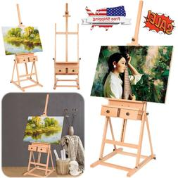 French Easel Art Wooden Sketch Box Portable Artist Painters