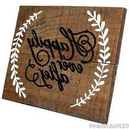 Happily Ever After Wood Sign with Easel, romantic, wedding d