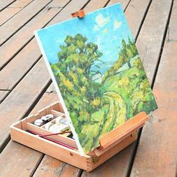 HBX-11 Portable Beech Sketch Box with Easel 36*27*11.5cm Woo