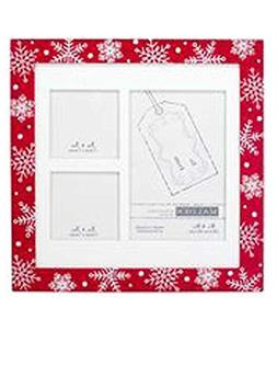 Holiday Snowflake Easel/Haniging Picture Frame White Mat for