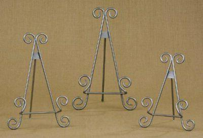 """13"""" Silver Finish Stratford Metal Easel Plate Display Photo"""