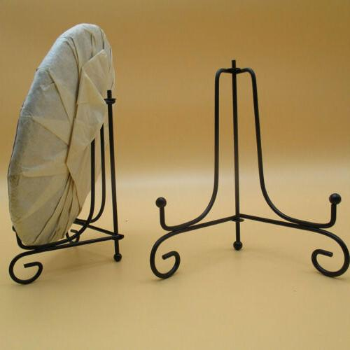"""2Pcs 4""""/5""""/12"""" Iron Easel Display Stand Plate Holder Picture"""