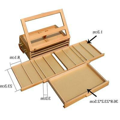 Portable French Wood Tabletop Box Easel