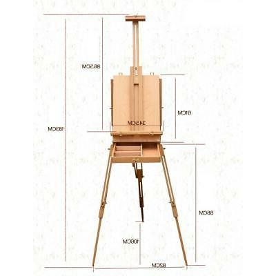 Adjustable Folding Artist Durable Wood Easel Stand