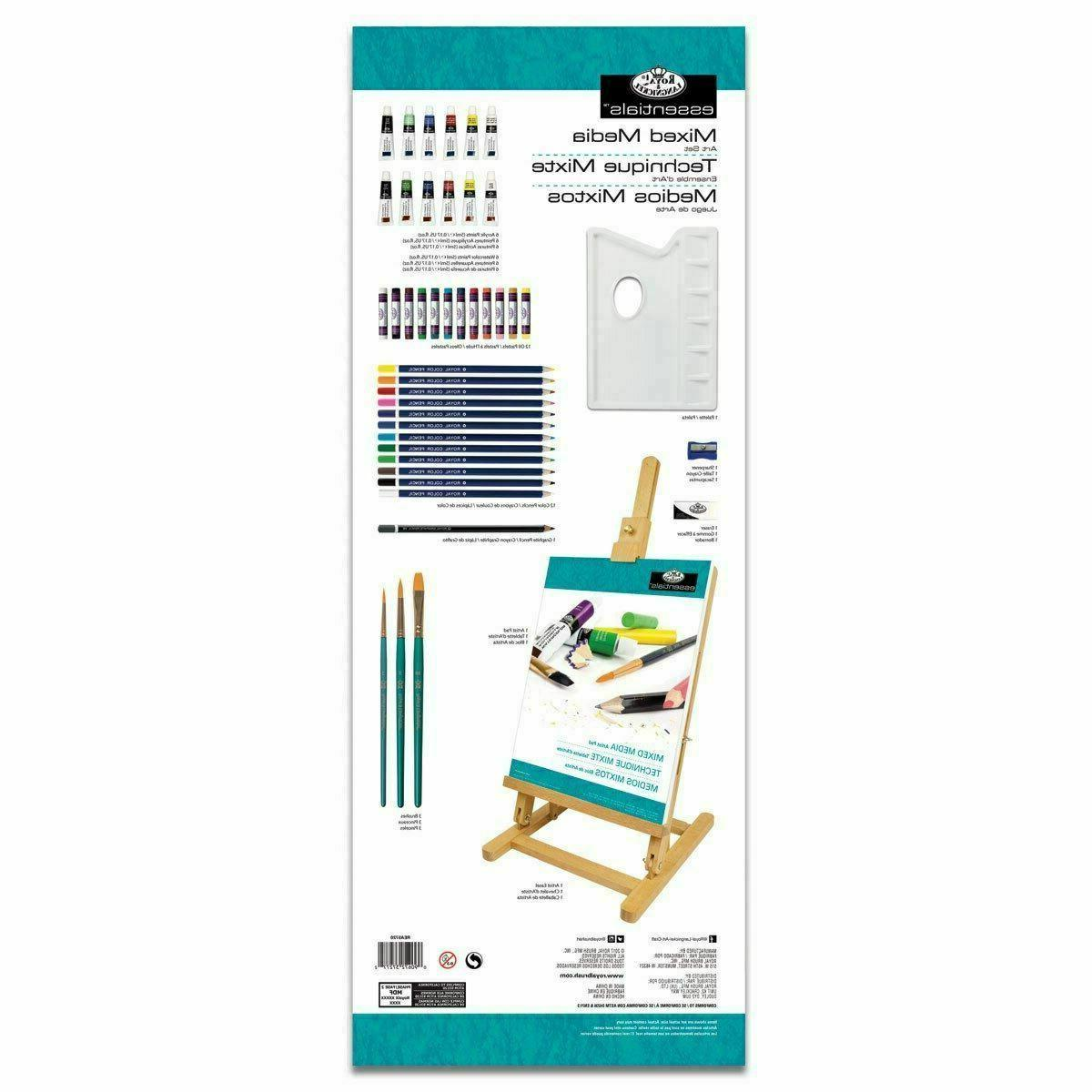 At Home Art Kit Beginners Paint Set Table Pad Colored