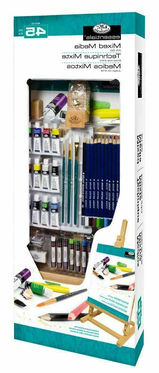 At Art Beginners Paint Table Easel Colored Pencils