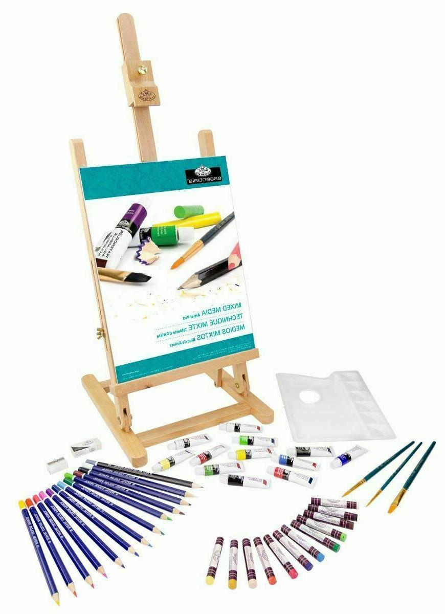 At Art Beginners Paint Table Easel Artist Pad Colored