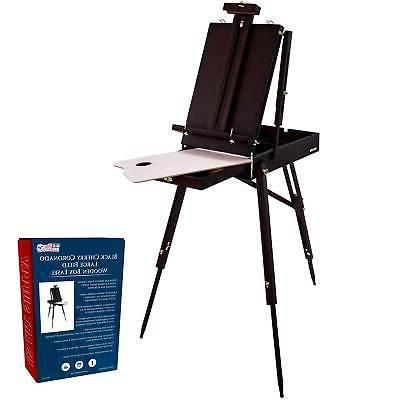 BLACK CHERRY French Style Portable Wood Easel Sketch box Art