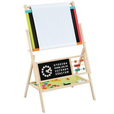 double sided magnetic display art easel standing