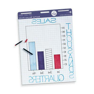 easel pad 50 sheets 1in grid