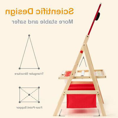 Flip-Over Double-Sided Kids Easel Paper Storage &