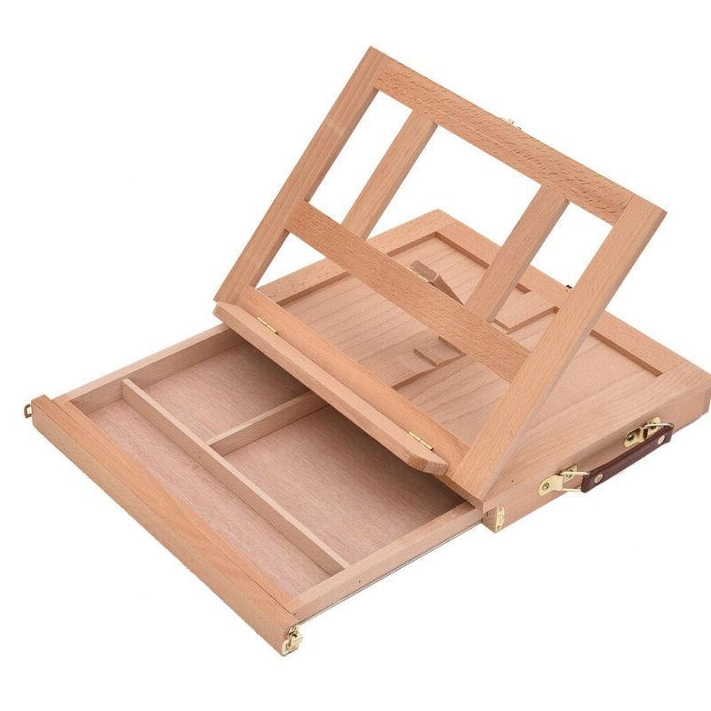 French Easel Art Wooden Sketch Box Artist Painters Tripod Display