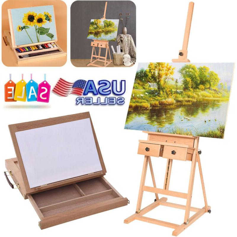 french easel art wooden sketch box portable