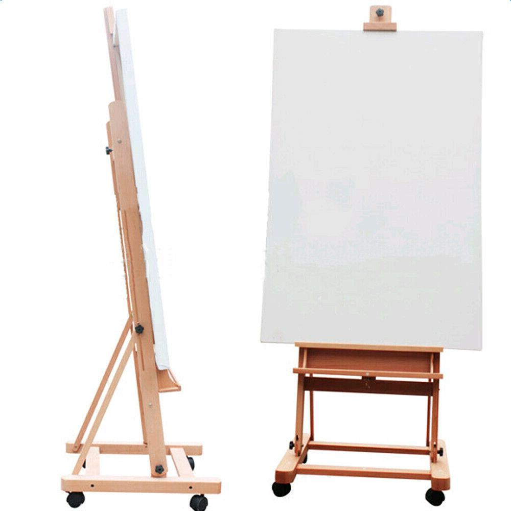 Large 360-Degree Wheels Easel Red
