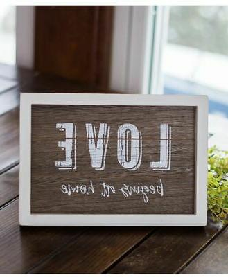 love beings at home easel sign