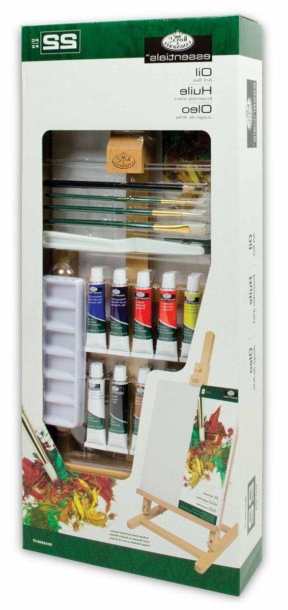 Royal & Langnickel Essentials Oil Color Easel Painting Set