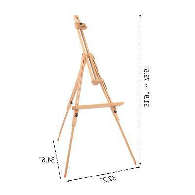 Portable Beech Wood Artist Painting Easel Adjustable Frame