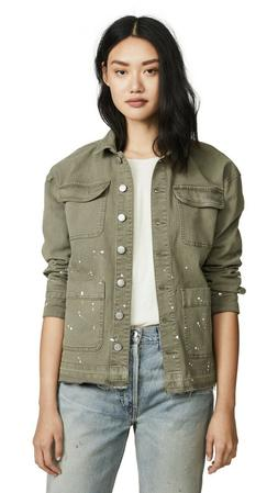 NWT Splendid Size XS Easel Jacket in Military/Olive Paint Sp