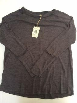NWT Easel Womens Medium M Seamed Sweater Charcoal Gray Overs