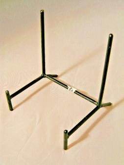 One  Very Sturdy Black Medium Sized Iron or Metal Easel Disp