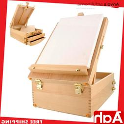 Portable Artist Wood Table Top Desk Easel Painting Art Drawi