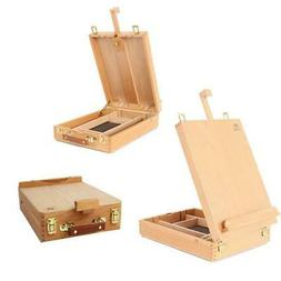 Portable Beech Art Drawing Painting Supply Desktop Table Eas