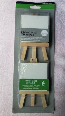 SEALED Daler Rowney Simply Mini Canvas & Easel Set Never Use