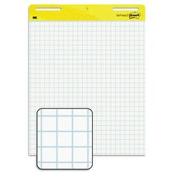 Self Stick Easel Pads, Quadrille, 25 x 30, White, 2 30 Sheet