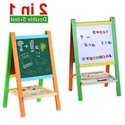 Jacootoys Standing Art Easel Two-Sided Board with Magnetic A