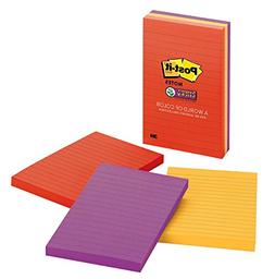 Post-it Super Sticky Notes, 4 in x 6 in, Marrakesh Collectio